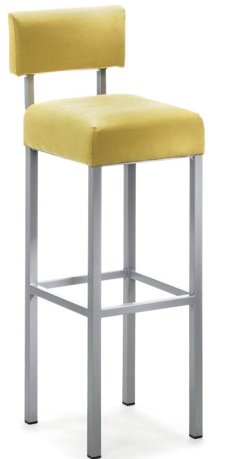 Gepolsteter barhocker cubus b mit r ckenlehne for Barhocker stoffbezug