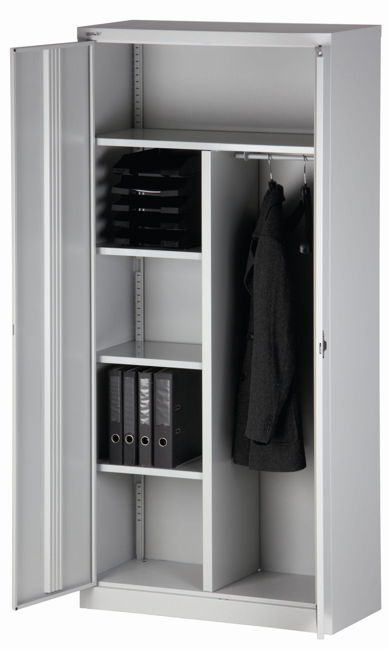 abschließbarer und günstiger Büro-Stahlschrank mit abschließbaren ...