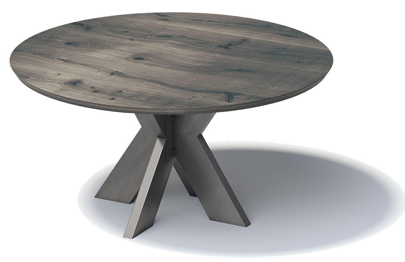 runder Tisch (Durchmesser = 180 cm) mit Eiche Massivhohlz
