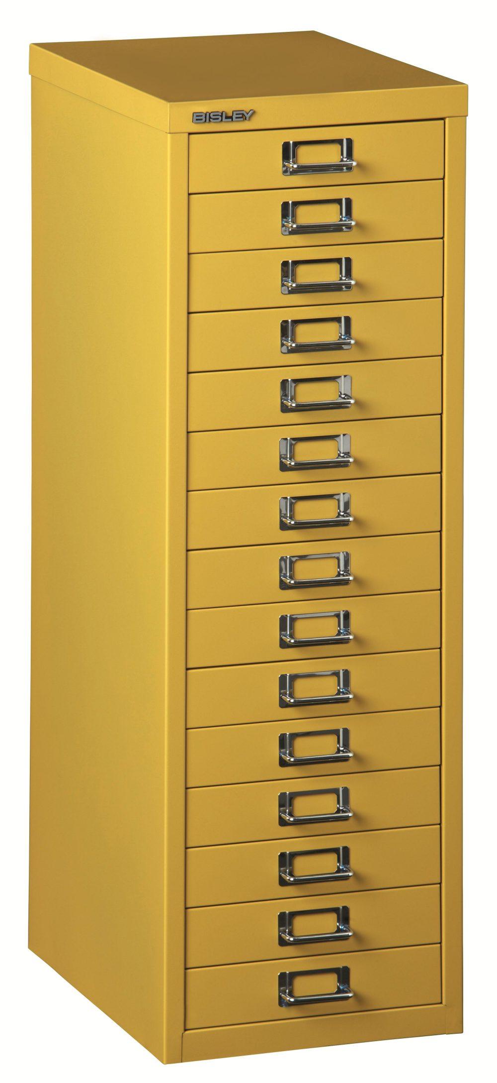l 3915 gelb robuster din a4 schubladen stahlschrank aus hochwertigem stahl gelb lackiert mit. Black Bedroom Furniture Sets. Home Design Ideas