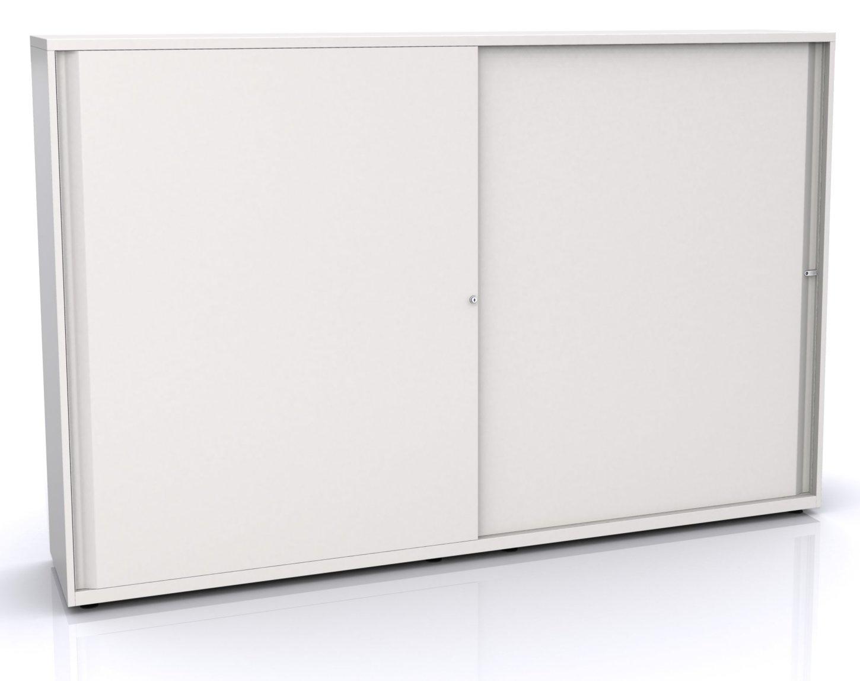 Aktenschrank abschließbar schiebetür  hochwertiger Büro-Stahlschrank mit abschließbaren Schiebetüren ...