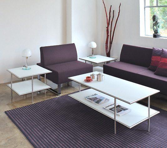 Anwendungsbeispiel 2 x design beistelltisch mit design for Designer tischplatten
