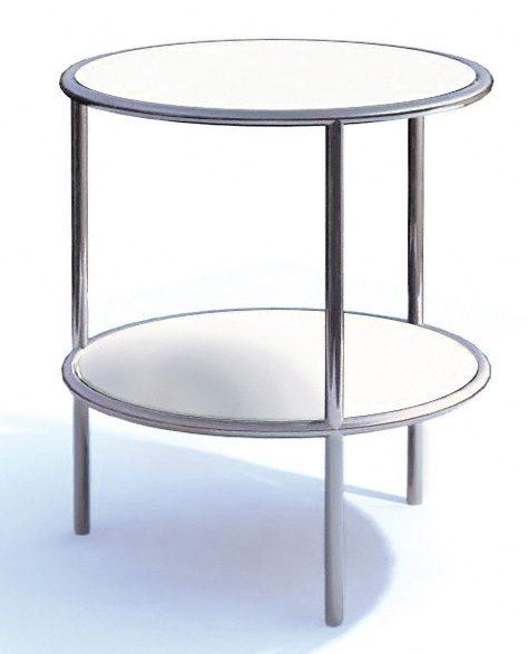 runder beistelltisch tischplatte und zwischenboden aus. Black Bedroom Furniture Sets. Home Design Ideas