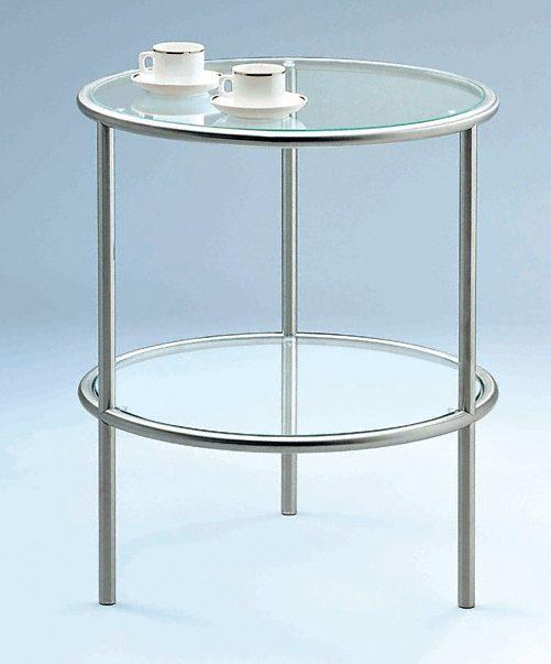 runder klarglas beistelltisch tischplatte und. Black Bedroom Furniture Sets. Home Design Ideas