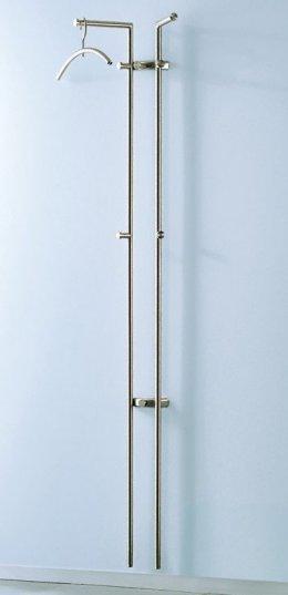 moderne edelstahl garderobenstange zur wandmontage mit zwei stahlrohren aus gschliffenem edelstahl. Black Bedroom Furniture Sets. Home Design Ideas
