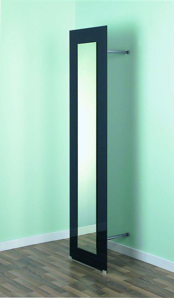 garderobe mit spiegel aus klarglas und mit ablage metall. Black Bedroom Furniture Sets. Home Design Ideas