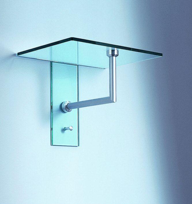 Wandgarderobe aus klarglas oder satiniertem glas mit for Garderobe glas