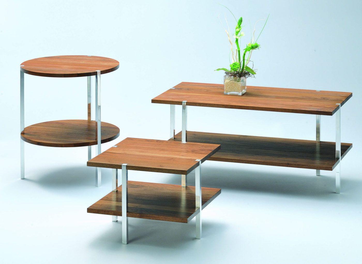 Beistelltische und couchtische mit 2 robusten tischplatten for Designer tischplatten