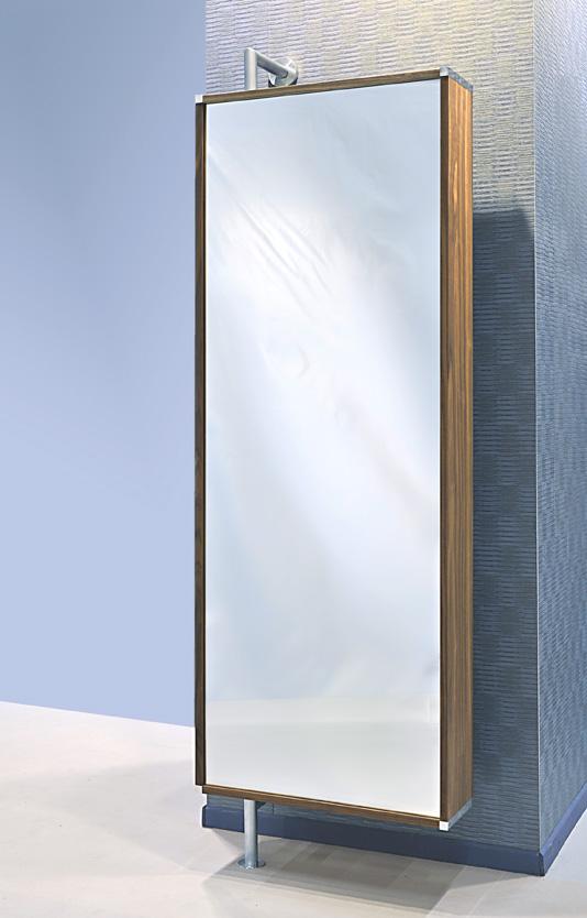 Armoire Ikea Aneboda Une Porte ~   Wandgarderobe und Schuhschrank mit großem Spiegel  Montage seitlich