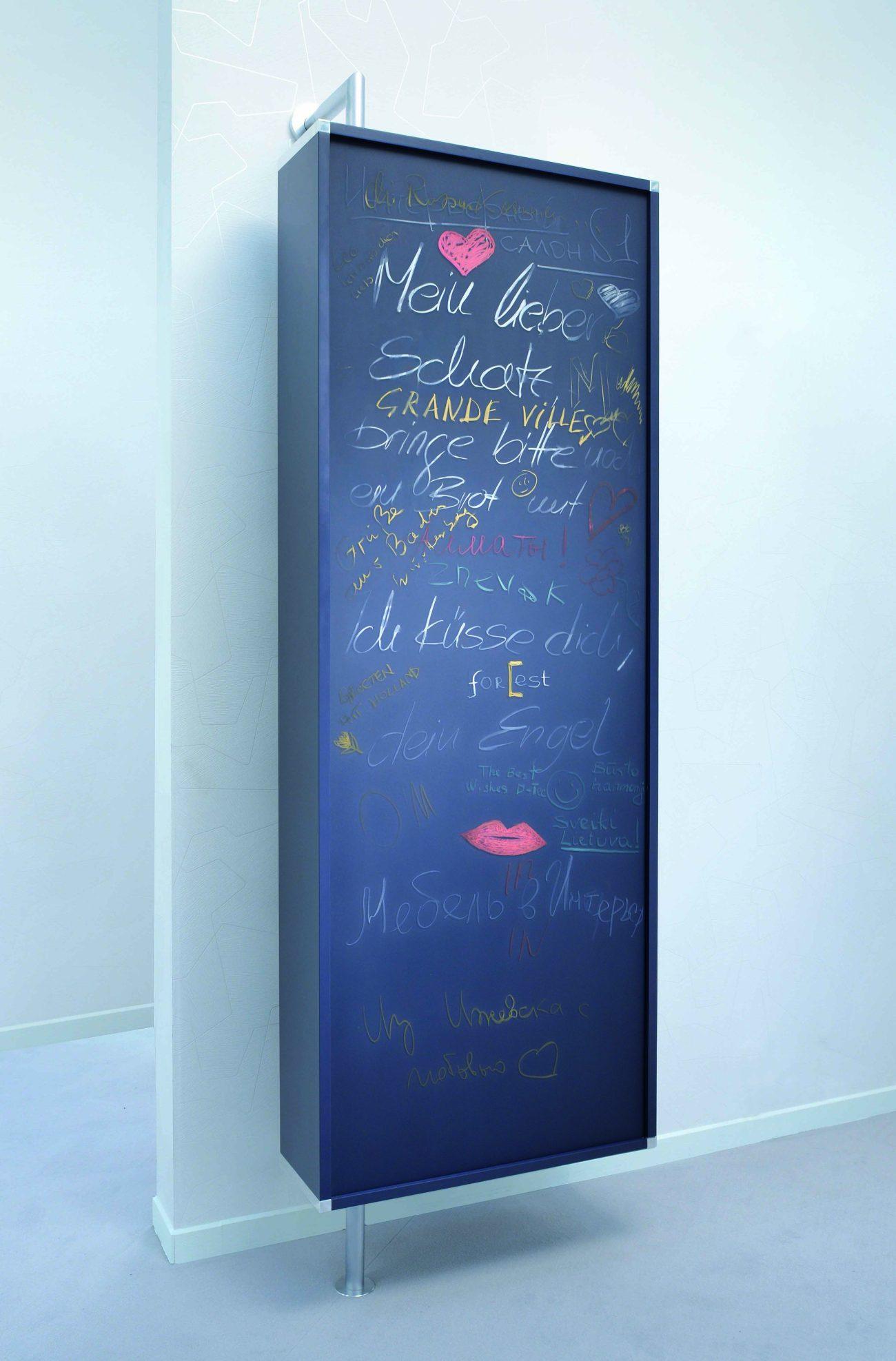 drehbare Wandgarderobe und Schuhschrank mit großem Spiegel