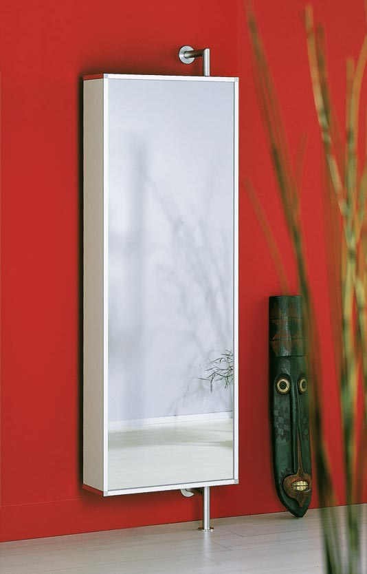 sehr moderner und drehbarer schuhschrank mit spiegel zur wandmontage. Black Bedroom Furniture Sets. Home Design Ideas
