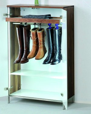 eleganter schuhschrank aus hochwertigem nussbaum. Black Bedroom Furniture Sets. Home Design Ideas