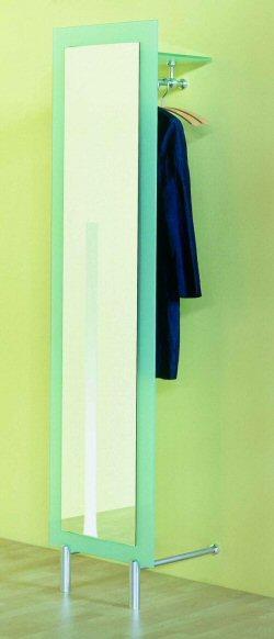 Sehr sch ne garderobe mit spiegel und glasfront aus for Garderobe mit glasfront