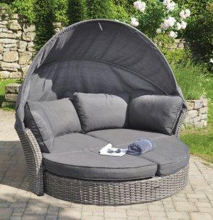 bequeme und preiswerte liegemuschel kunststoffgeflecht. Black Bedroom Furniture Sets. Home Design Ideas