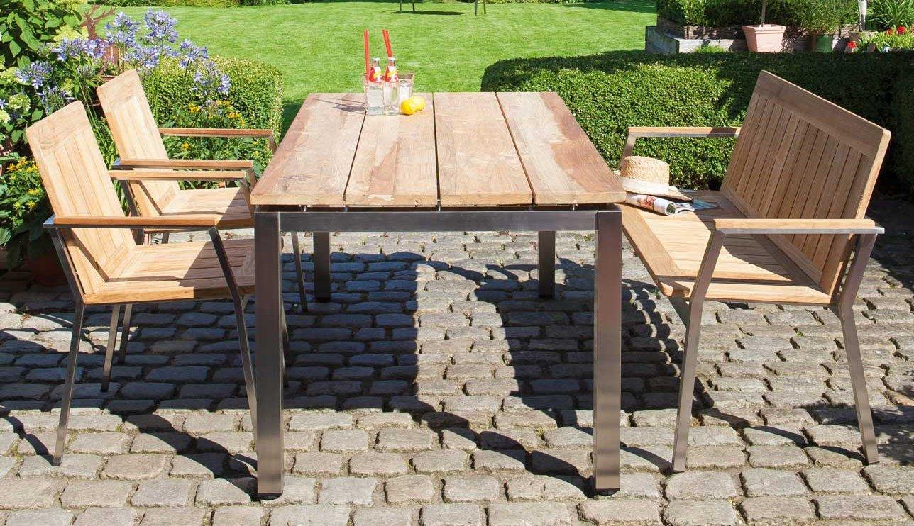 Gartenmobel Aus Holz Saubern : robuste Gartenmöbel aus Edelstahl und massivem Teakholz