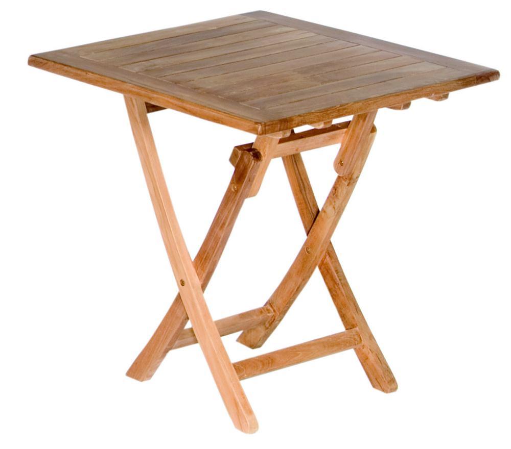 zusammenklappbarer Gartentisch aus Teakholz massiv \