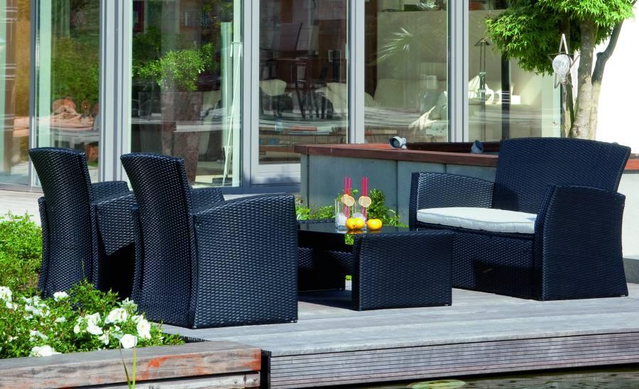bildvergr erung gartenm bel gruppe sunset 2 gartensessel 1 sofa und 1 gartentisch mit. Black Bedroom Furniture Sets. Home Design Ideas