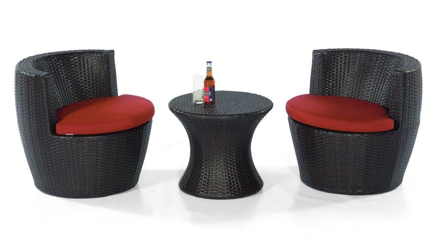 wasserabweisende polyrattan m bel f r den garten oder wintergarten stapelbares gartenm bel set. Black Bedroom Furniture Sets. Home Design Ideas