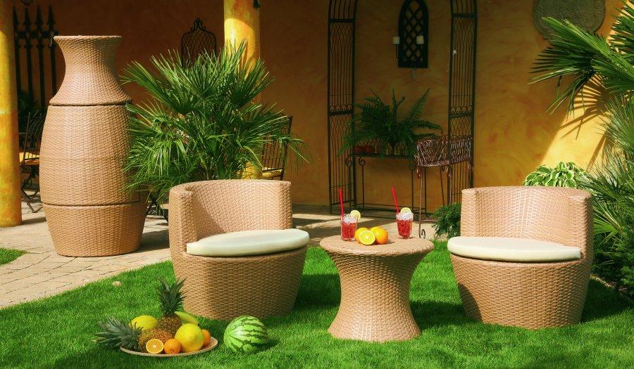 witterungsbest ndige polyrattan m bel f r den garten oder. Black Bedroom Furniture Sets. Home Design Ideas