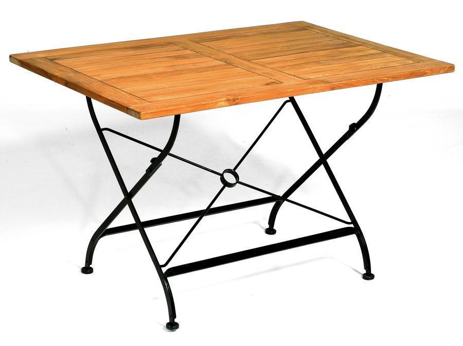 abbildung rechteckiger teakholz klapptisch oxford 120 breite x l nge 80 x 120 cm. Black Bedroom Furniture Sets. Home Design Ideas