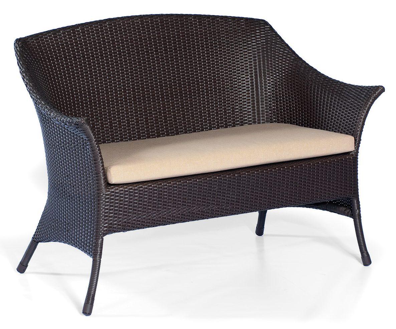 witterungsbest ndige geflecht gartenbank tortola von sonnenpartner geflecht moccafarbig. Black Bedroom Furniture Sets. Home Design Ideas