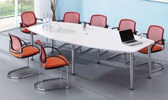moderner und hochwertiger konferenztisch besprechungstisch f r 10 personen mit robuster. Black Bedroom Furniture Sets. Home Design Ideas