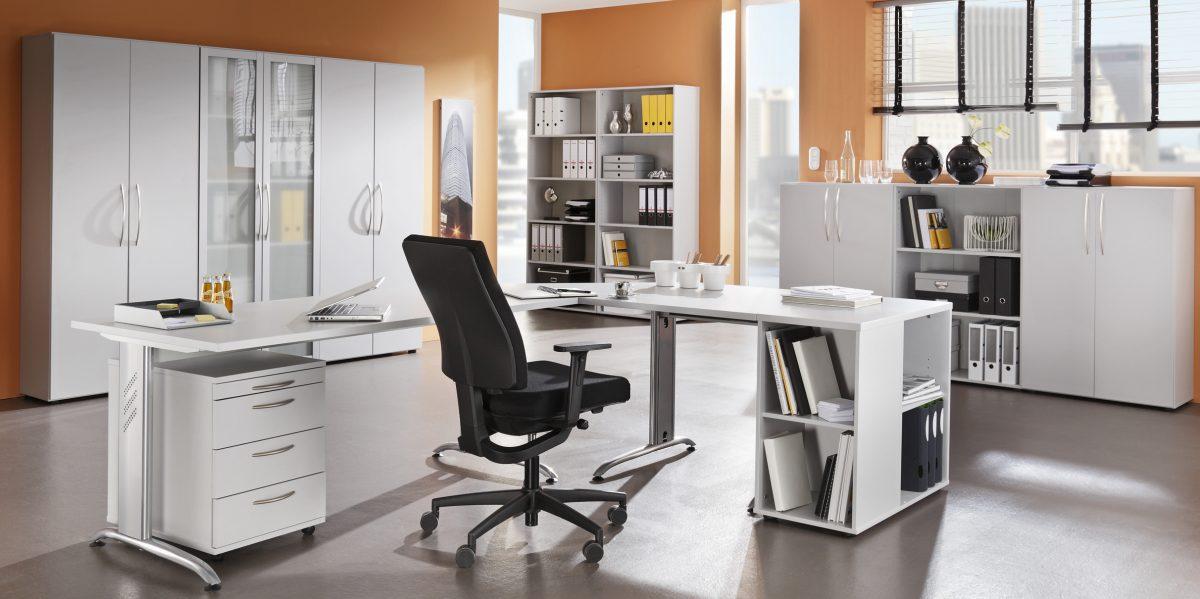 Büromöbel weiss grau  Moderne Büromöbel Weiss | rheumri.com
