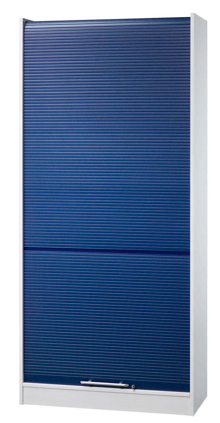 moderner und abschließbarer Büro-Rollladenschrank mit 4 ...