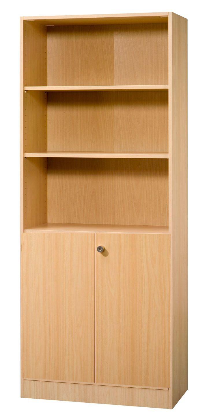 robuste und abschließbare Büroschränke in grau, weiß, Ahorn ...
