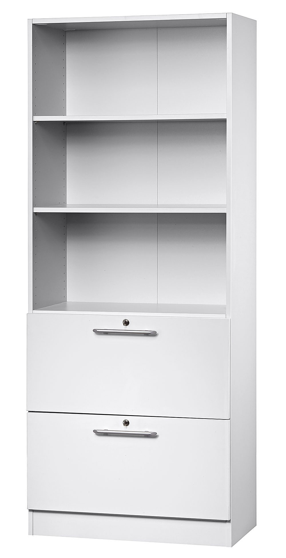 robuster b roschrank mit 2 separat abschlie baren din a4 h ngeregisterschubladen und 2. Black Bedroom Furniture Sets. Home Design Ideas
