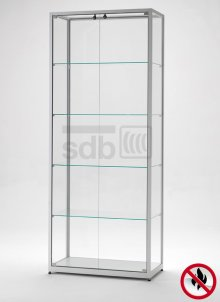 brandschutzvitrine hbs 800 nach baustoffklasse b1 schwerentflammbare glasvitrine 80 x 40 x. Black Bedroom Furniture Sets. Home Design Ideas