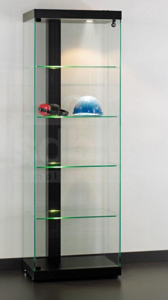 vitrine linea 60 schwarz abschlie bare ausstellungs. Black Bedroom Furniture Sets. Home Design Ideas