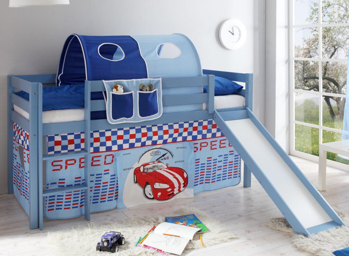 Gartenmobel Palette Diy : KinderHochbett Manuel blau von TICAA sicheres und preiswertes