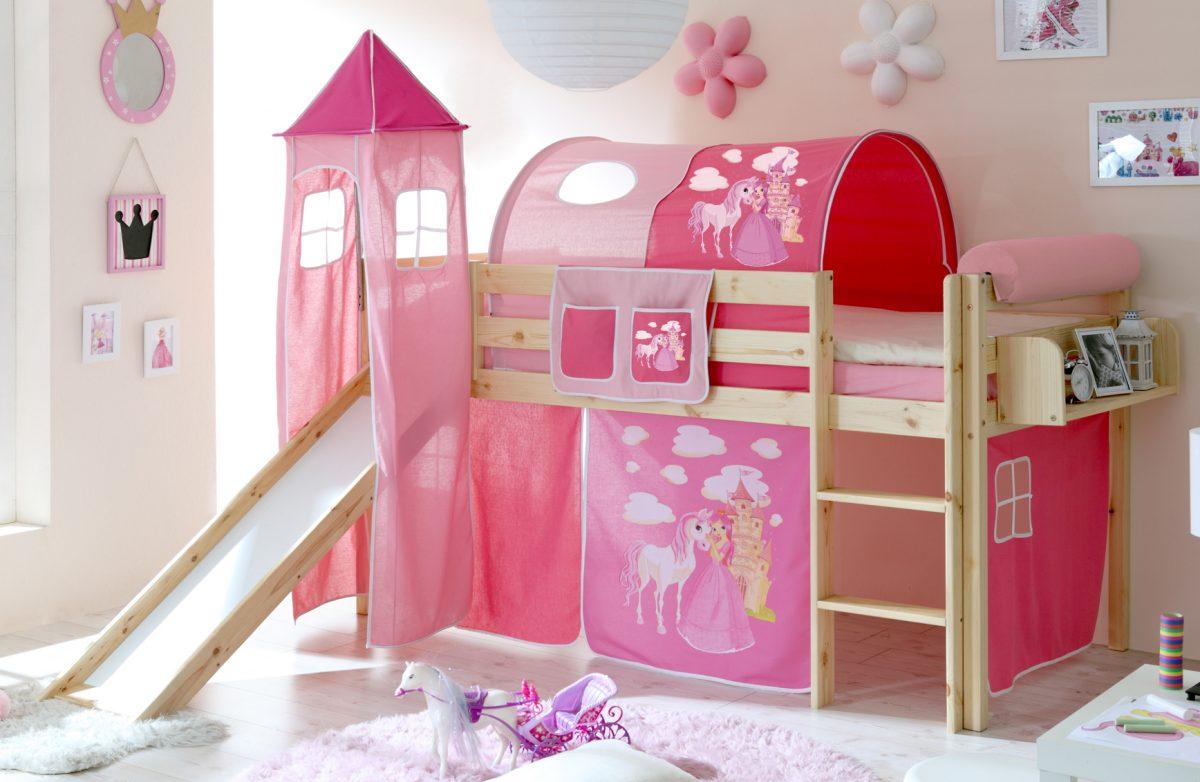 hochwertiges und sicheres Kinderhochbett aus Kiefer massiv mit Turm ...