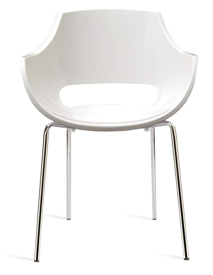 abbildung stapelbarer armlehnen stuhl opal solid wei mit wei e. Black Bedroom Furniture Sets. Home Design Ideas
