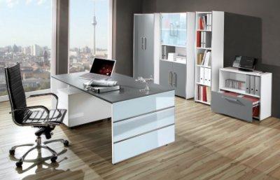 moderne b rom bel weiss. Black Bedroom Furniture Sets. Home Design Ideas