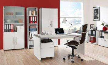 Moderne büroschränke  moderne erweiterbare Büroschränke mit Schranktüren weiß,lichtgrau ...