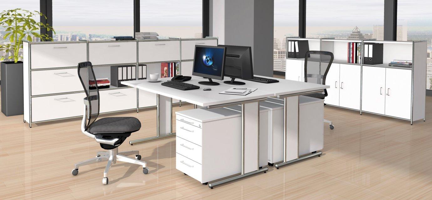 Moderne büroschränke  weiße Büromöbel und moderne Büroschränke im robustem Stahlrahmen