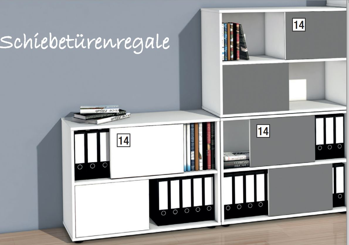 stapelbarer schiebet ren b roschrank mit zweifarbigen. Black Bedroom Furniture Sets. Home Design Ideas