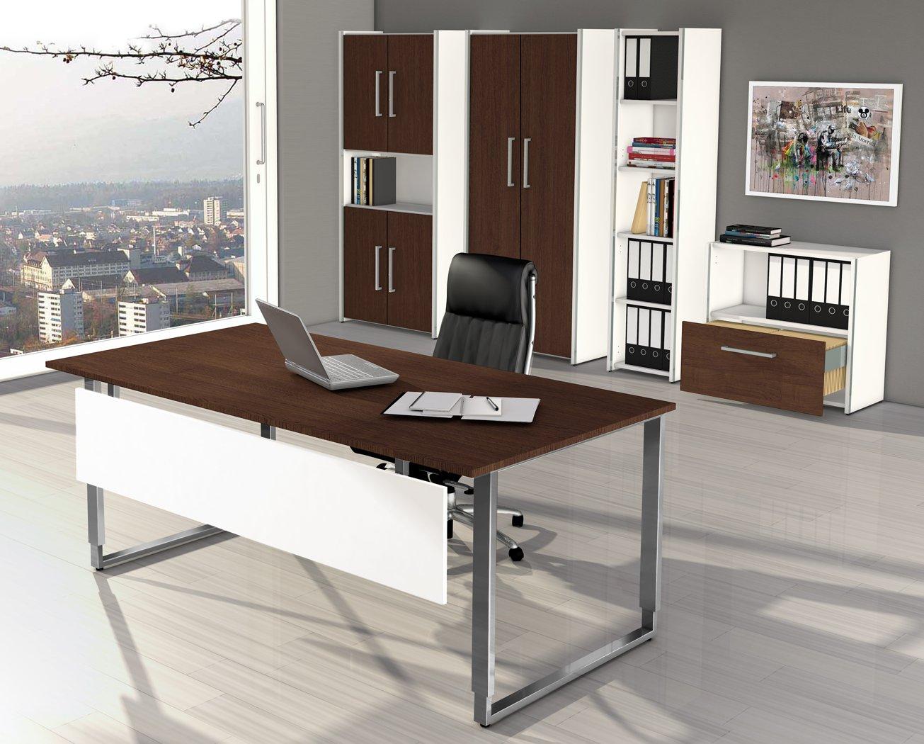 Büroeinrichtung Design ~ Abb BüromöbelKollektion Aveto Weiß WengeDekor  Moderne Und