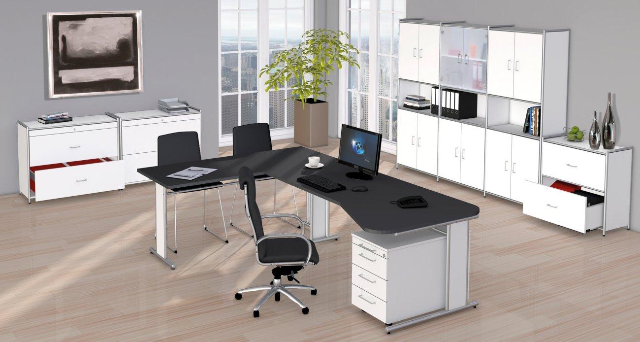 Moderne büromöbel weiss  Büromöbel Weiss Lack | recybuche.com