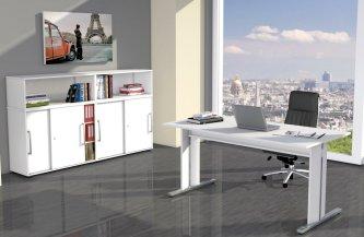 preiswerte b ro schiebet rschr nke mit zweifarbigen wendet ren. Black Bedroom Furniture Sets. Home Design Ideas