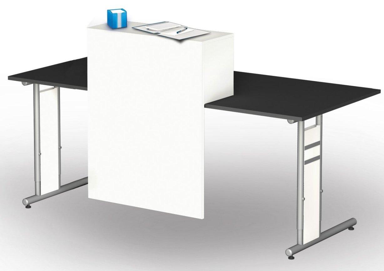 Schreibtisch Thekenaufsatz als Sichtschutz und Ablagefach für