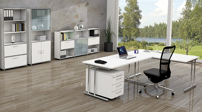Moderne büromöbel  moderne Büromöbel Stahlrohrgestell mit Aufbauservice