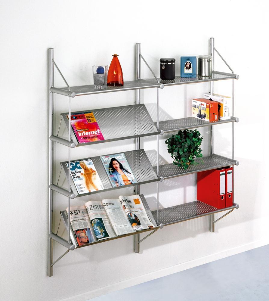 Wandregalsystem metall  sehr schönes Büro-Metallregal zur Wandmontage aus ...