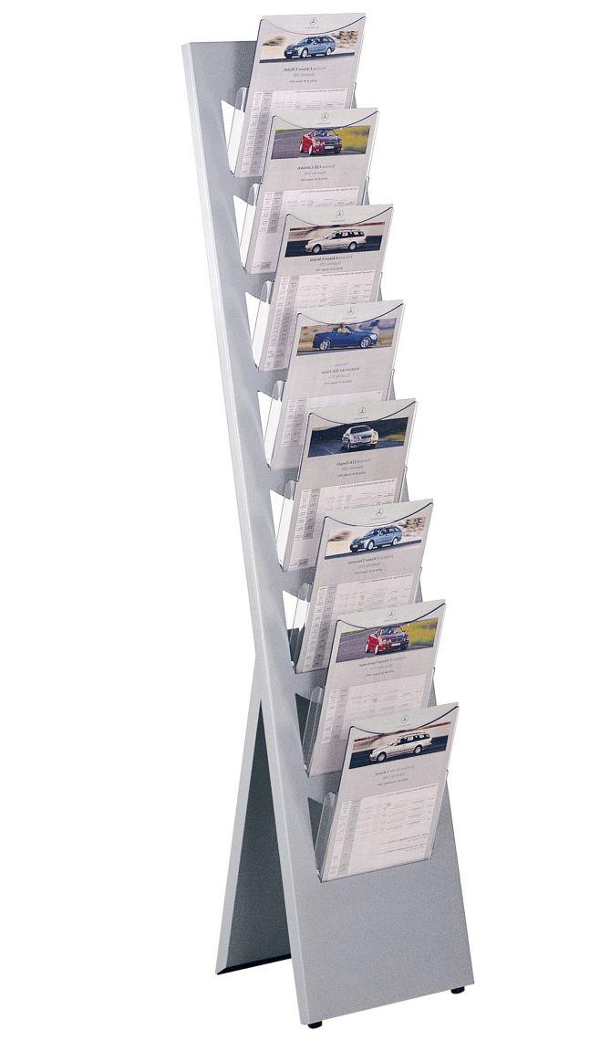 Zeitschriften Ständer stahl zeitschriftenständer mit 8 fächer zur wandmontage geeignet