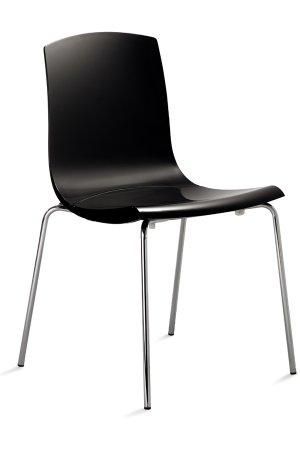Robuster stuhl mit bequemen hartschalensitz in transparent for Design stuhl bequem