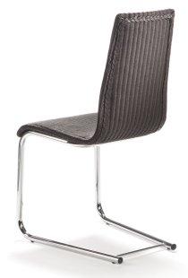 moderner freischwinger esstischstuhl als hochwertiger geflechtstuhl oder bequemer polsterstuhl. Black Bedroom Furniture Sets. Home Design Ideas