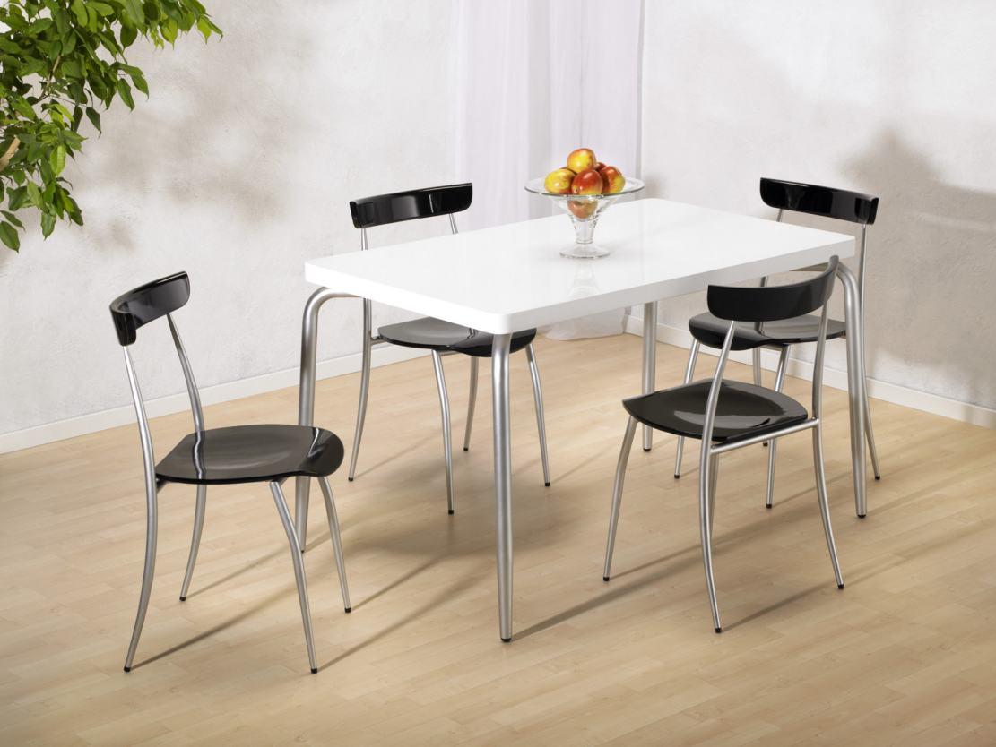 Hochwertiger k chenstuhl hochglanz schwarz lackiert und for Stuhl modern design