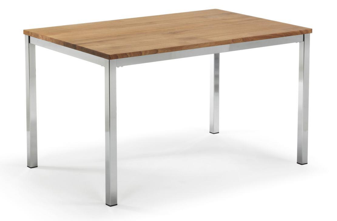 sehr robuster und moderner Tisch (Buchenholz-Tischplatte ...